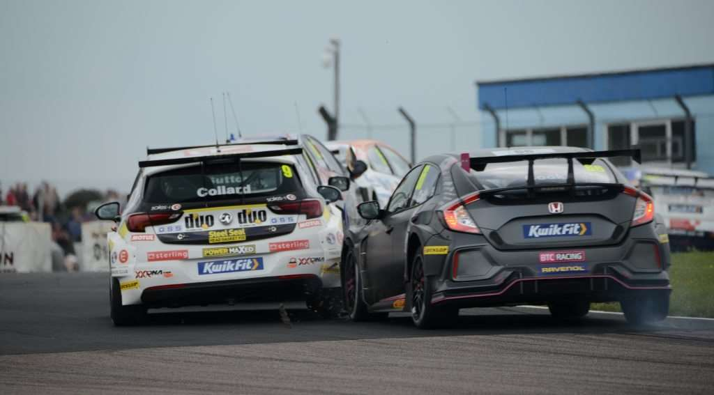Damage limitation as Josh Cook's Honda shatters carbon on Rob Collard's Vauxhall