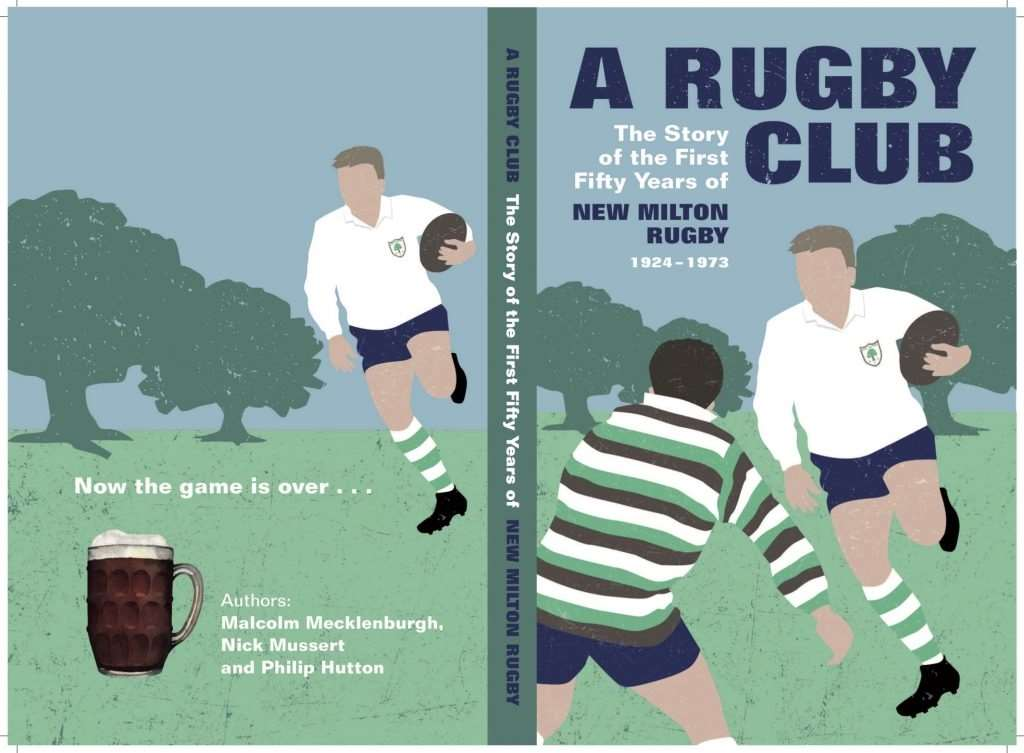 The cover of New Milton Rugby Club's new book which reflects on their first 50 years.
