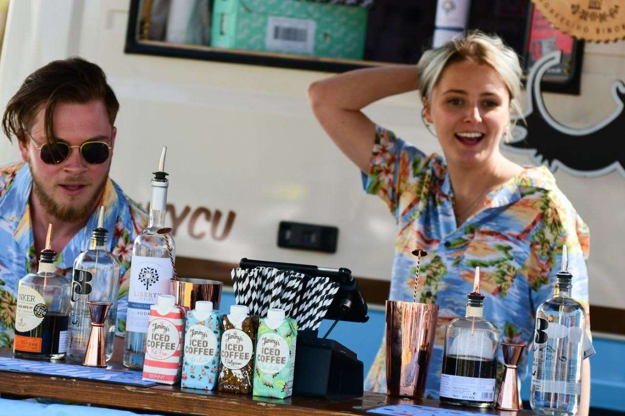 Visitors can enjoy cocktails in pop-up bars