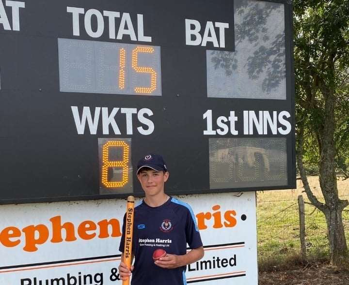 Bashley II's 14-year-old spinner Ethan Baker took 8-15 in his eight over spell against Hythe & Dibden