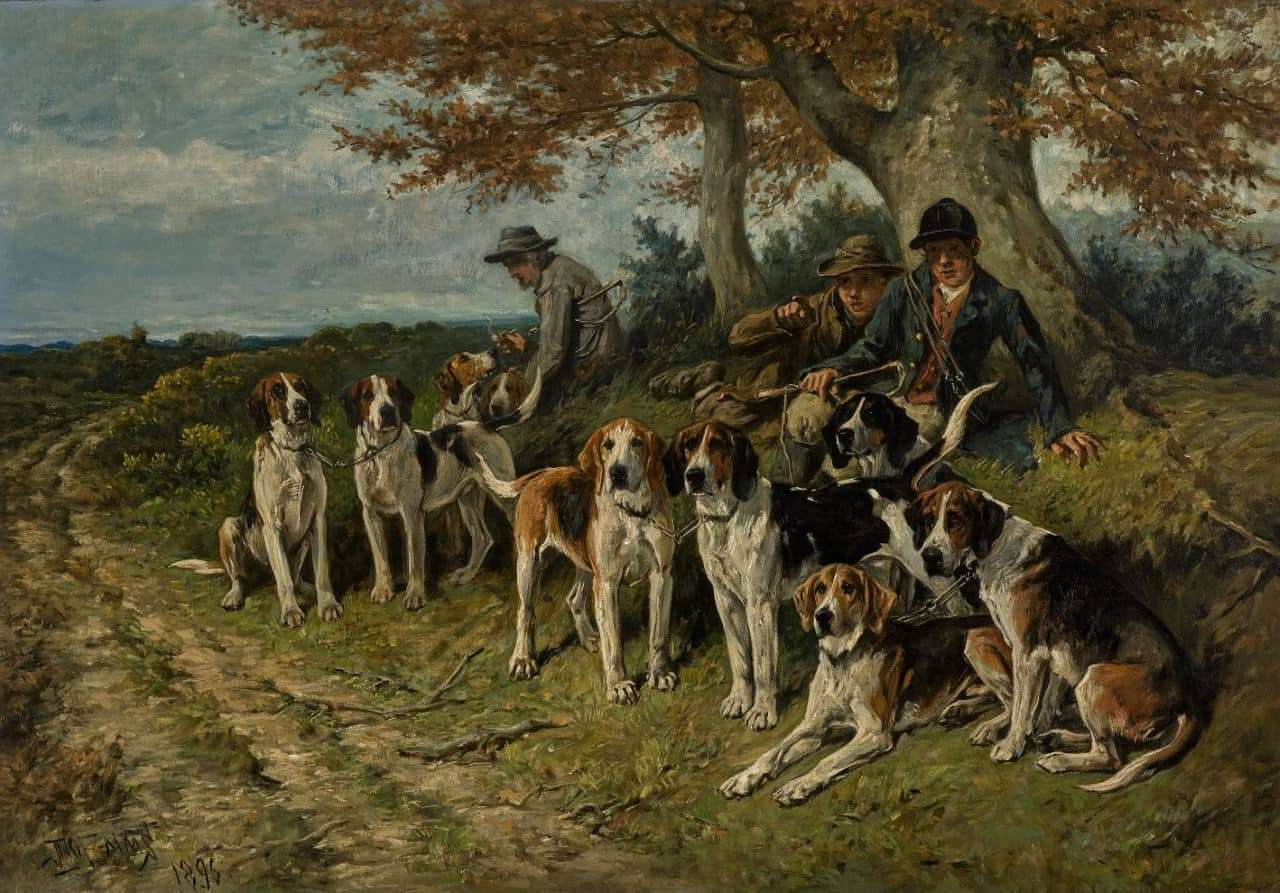 John Emms' The New Forest Buckhounds is one of 50 masterworks that will be sold at Sotheby's