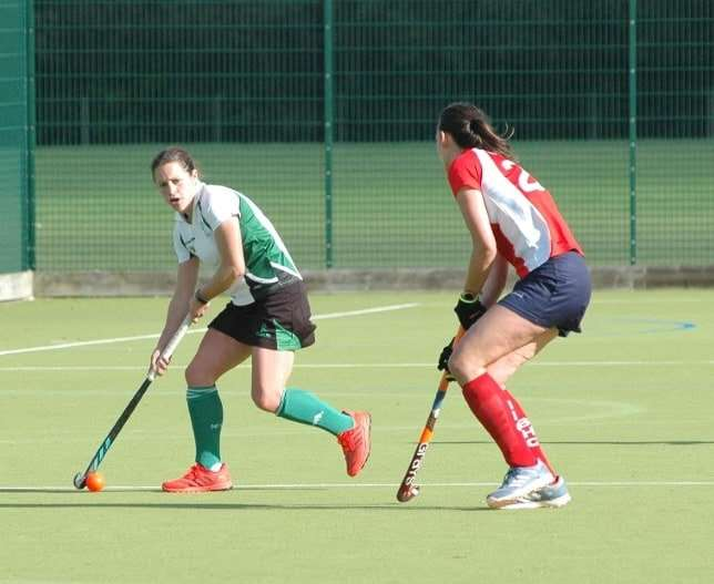 New Forest Hockey's Nicky Pike in action in their crunch match against Basingstoke over the weekend.