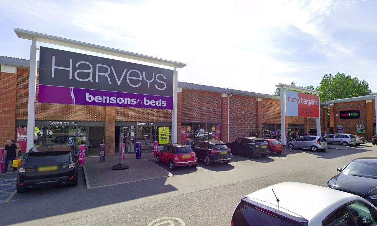 Home Bargains wants to push into the space formerly occupied by Harveys at Christchurch Retail Park (pic: Google)