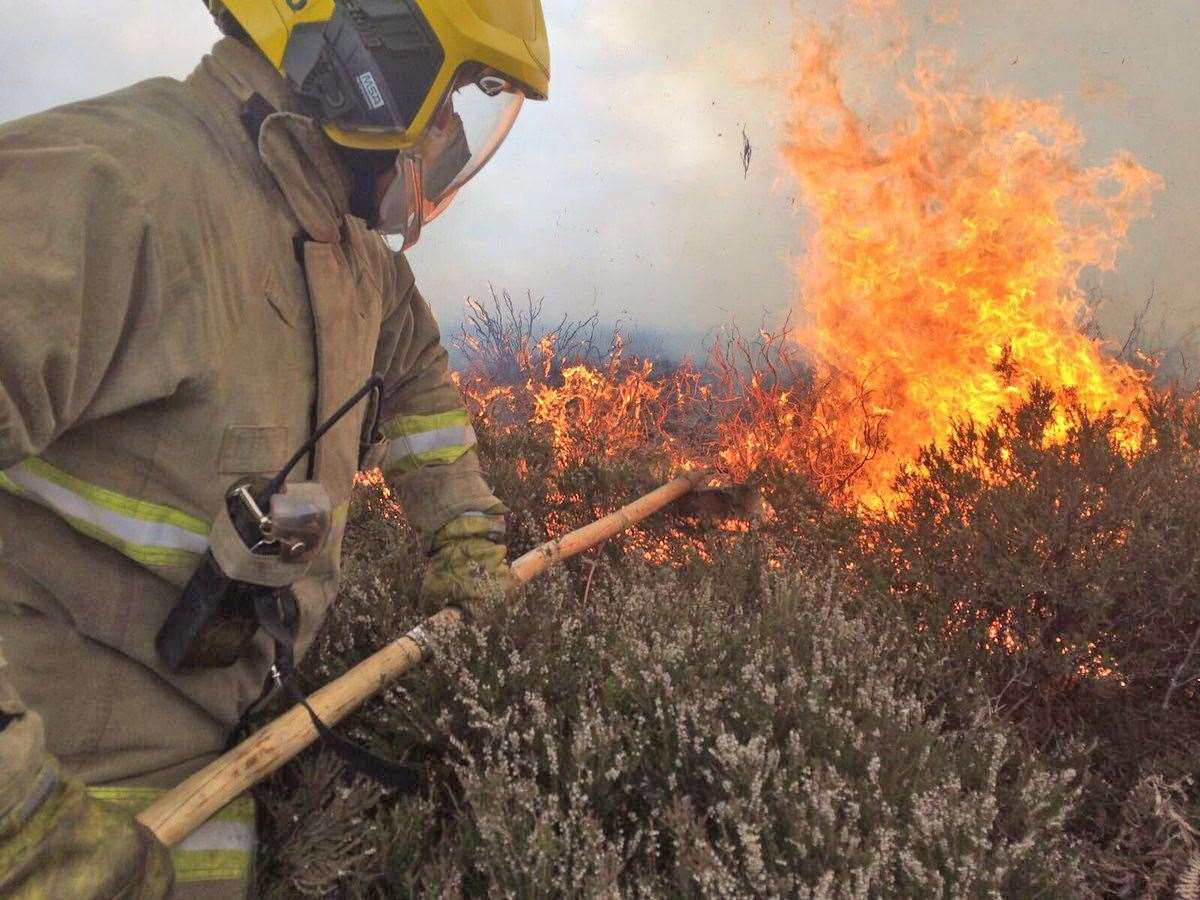 The wildfire alert for Dorset is expected to remain in place into next week