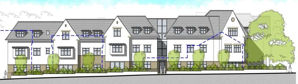 A CGI of 38 retirement flats approved along Seaton Road and Lymington Road in Highcliffe, by Fayrewood Properties