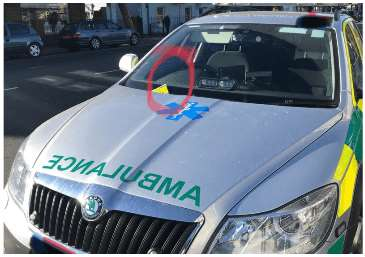 The ticket on the rapid response vehicle at Bargates in Christchurch (Photo: Emergency Services News)