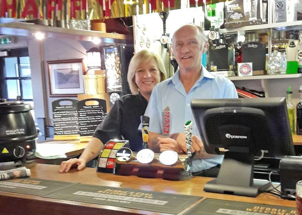 Debbie and Carl Millward, landlords of the Borough Arms pub in Lymington