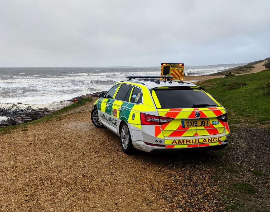 Emergency services at Barton beach (picture: SCAS)