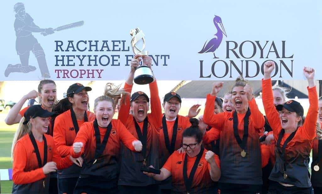 Taylor and the Southern Vipers celebrate winning the Rachael Heyhoe Flint Trophy final
