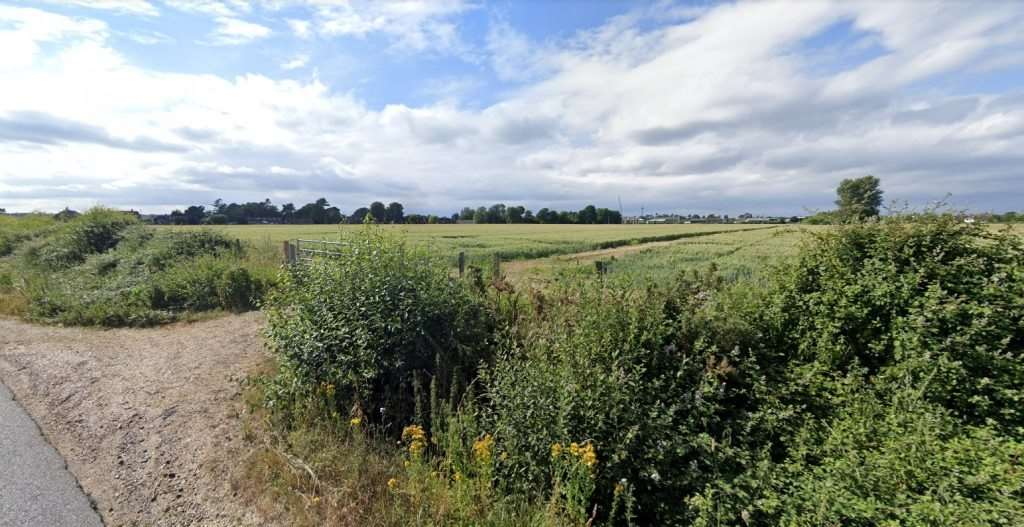 Land off Moortown Lane in Ringwood where nearly 500 homes are planned (picture: Google)