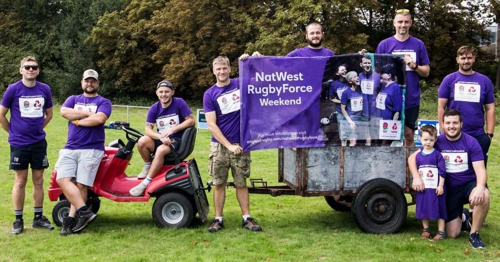 Volunteers at Christchurch Rugby Club turn out for the NatWest RugbyForce Weekend