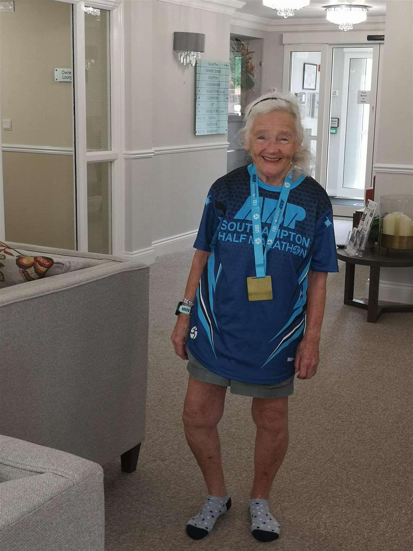 Ann ran the half marathon in just over 4 hours (51452559)