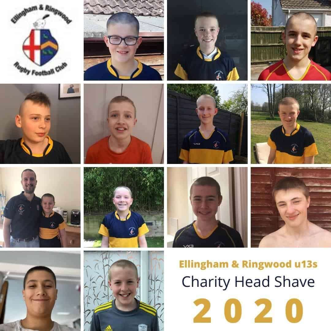 Current and former players have raised money for Ellingham & Ringwood RFC by participating in a charity head shave