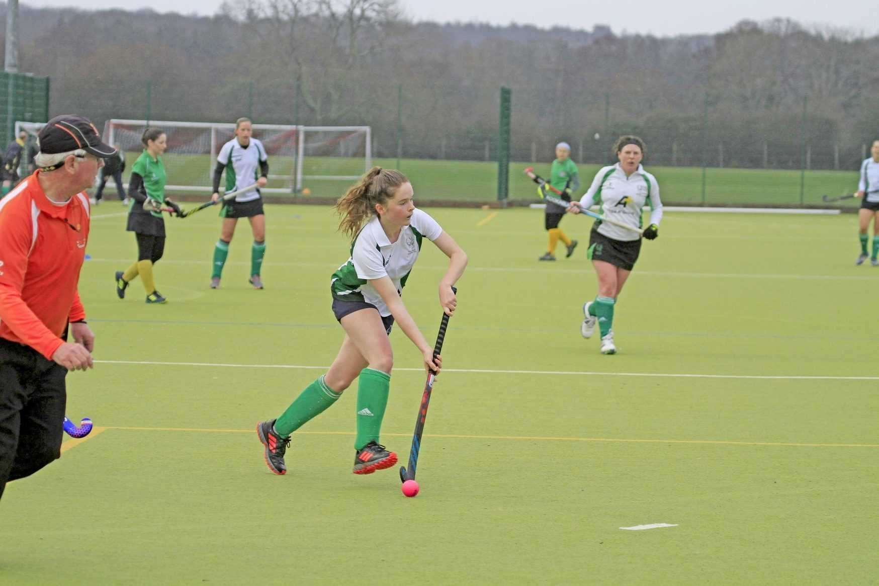 New Forest Hockey Club's teenage star Frankie Robertson was Player of the Match against Aldershot