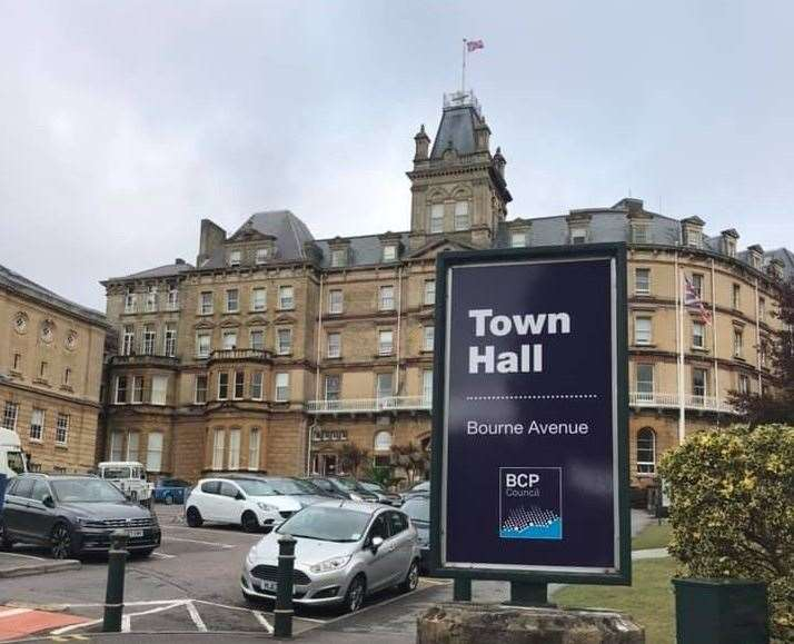 BCP Council meets at the town hall in Bournemouth
