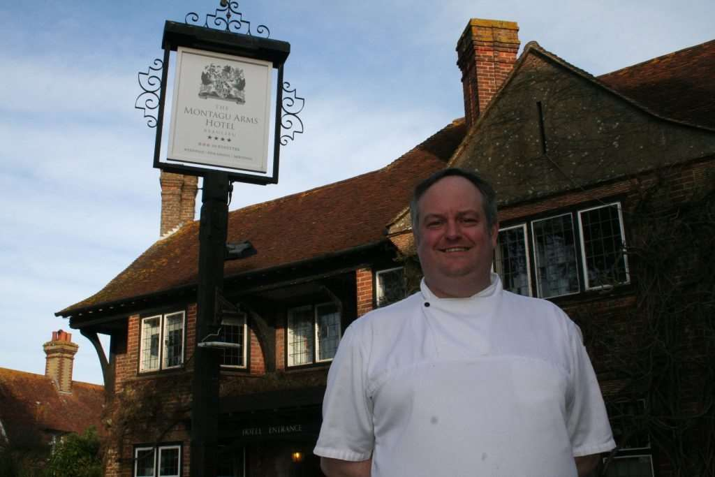 Head chef Matthew Tomkinson arrived at the Montagu Arms in 2008