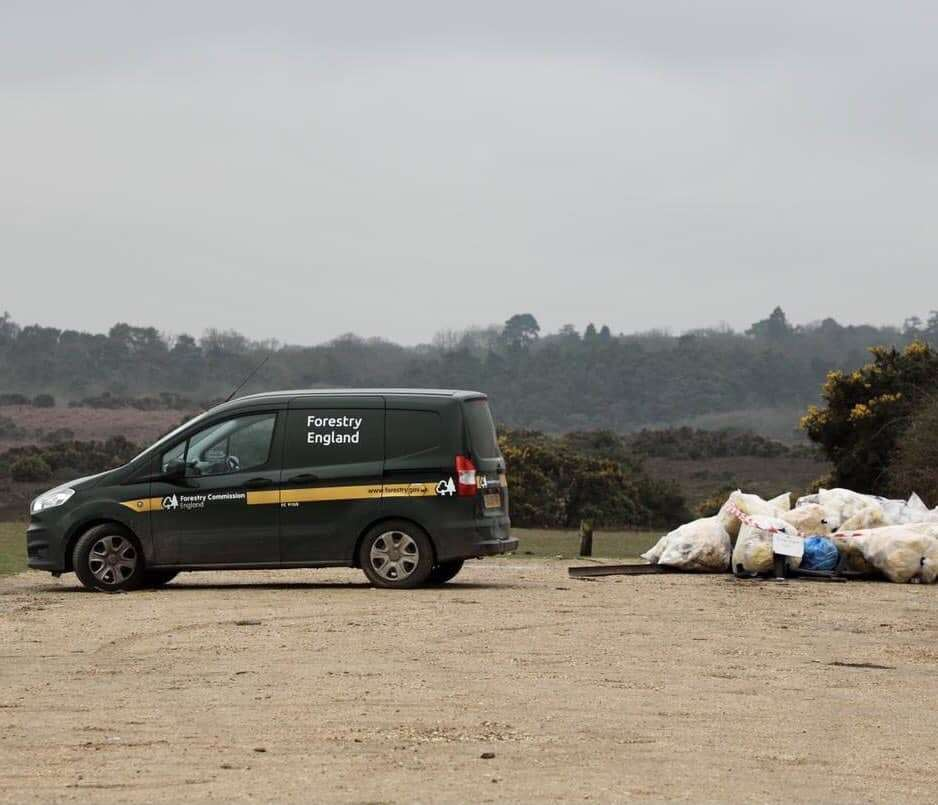 The flytip was taped off by a Forestry England ranger