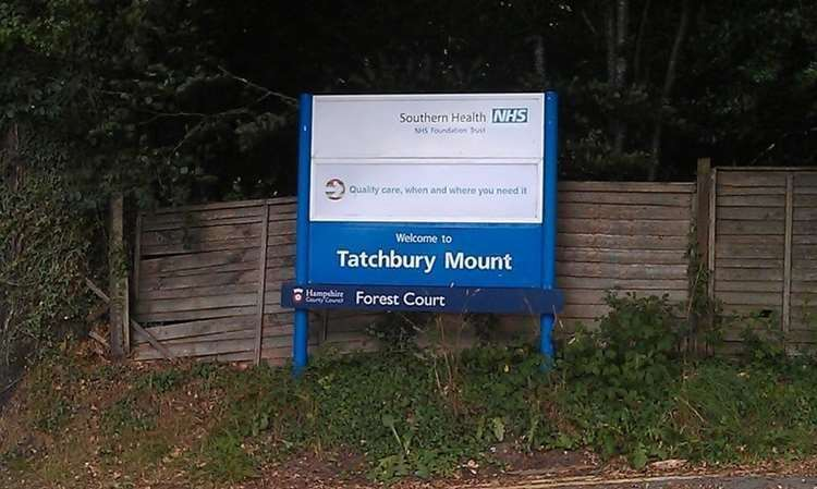 Southern Health NHS Foundation Trust signage at Tatchbury Mount (46209445)