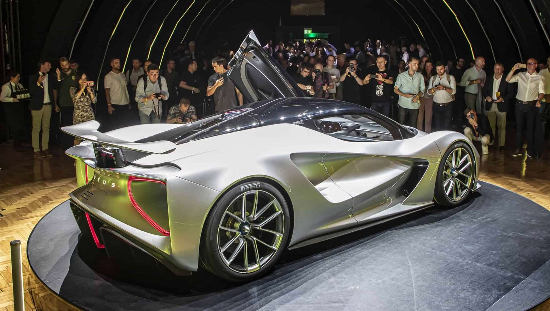 The Lotus Evija revealed showing large venturi