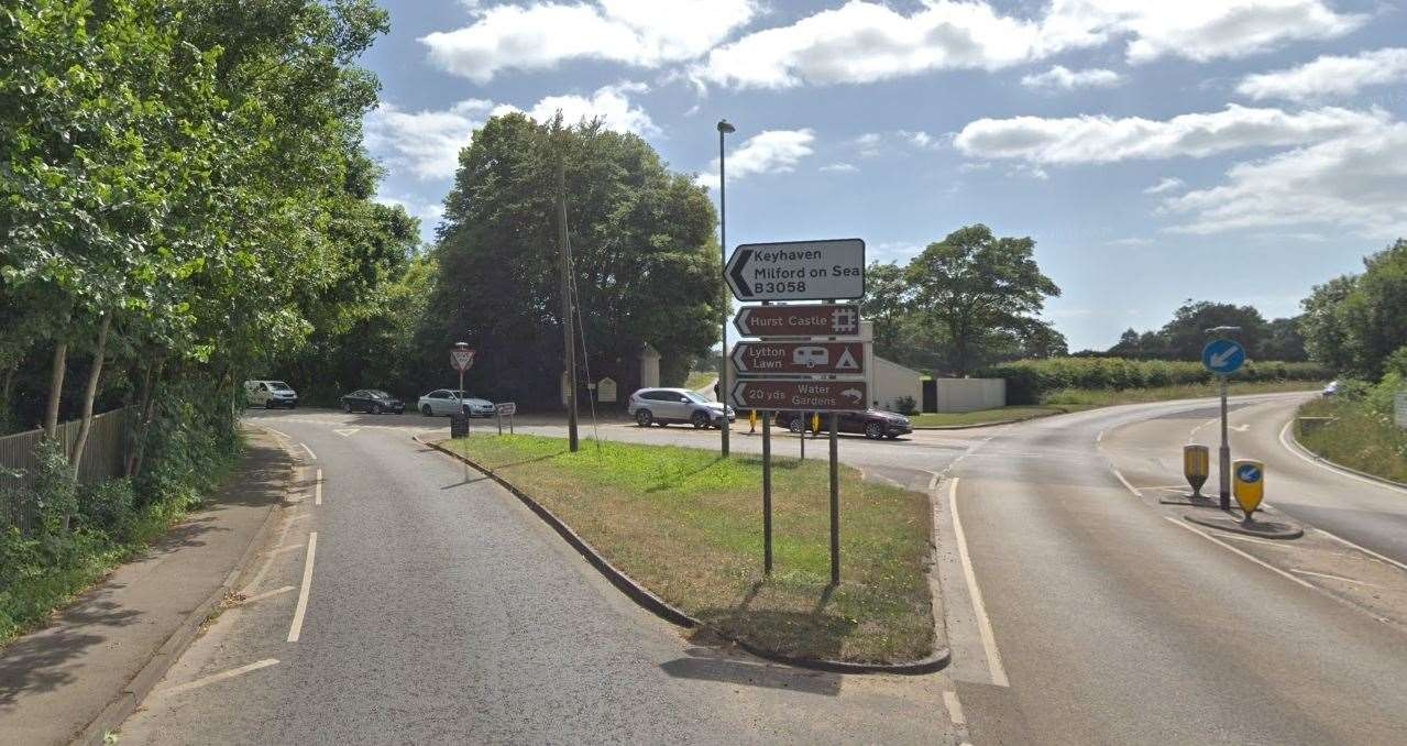 It's thought the deer was hit near the junction of B3058 and A337 (picture: Google)