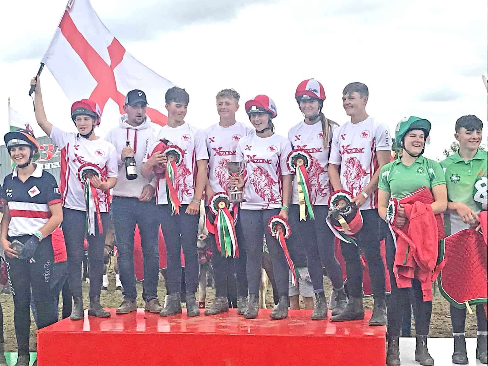 The England Mounted team took the honours at the U17 World Championships