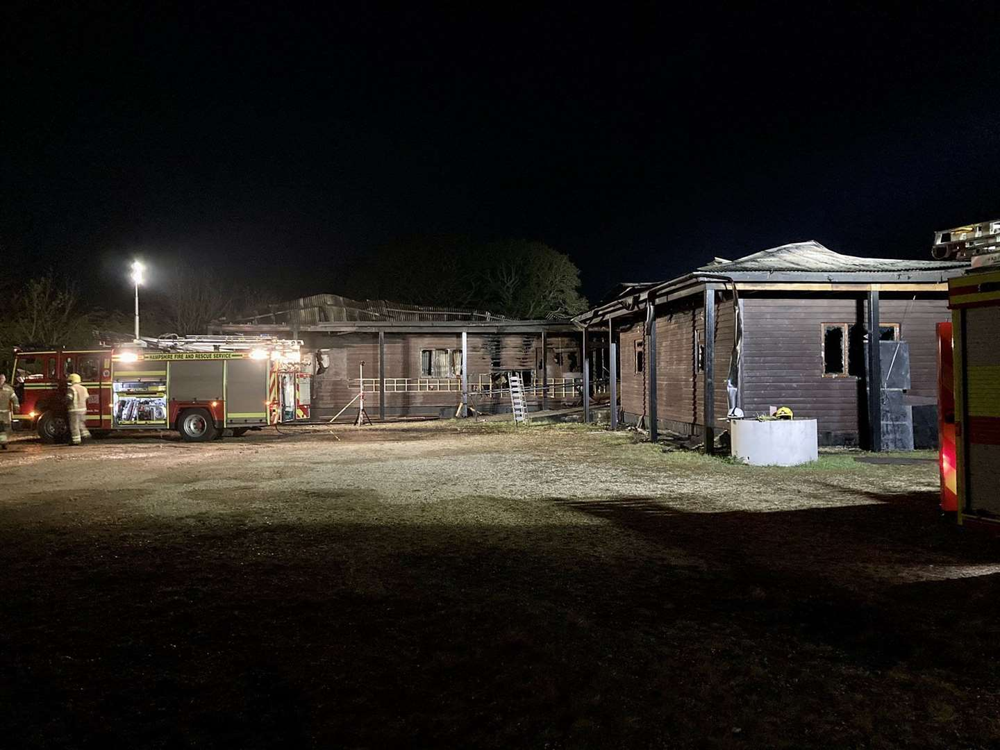 East Boldre Community Hall was gutted by the fire (Photo: Hampshire & Isle of Wight Fire and Rescue Service) (46642038)