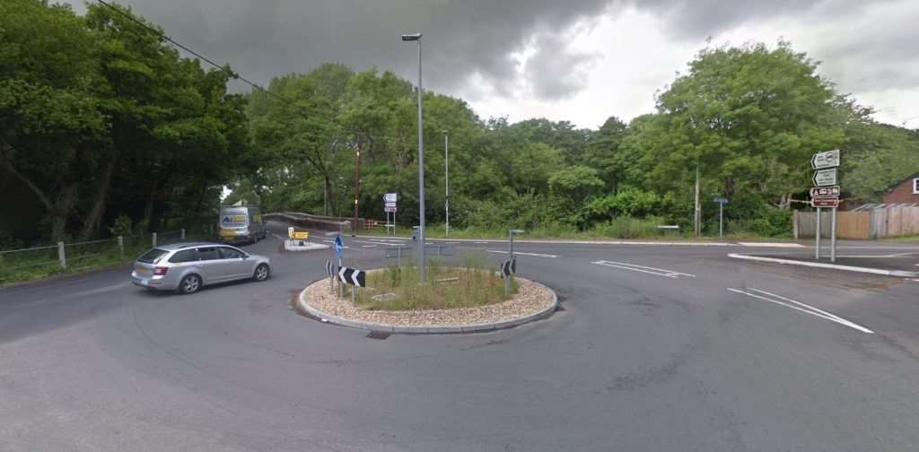 The crash happened at Hurn roundabout (picture: Google)