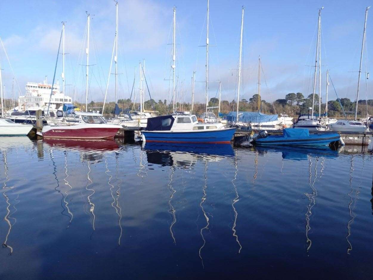 26th March 2021: Jill Torrens captured these reflections on Lymington River